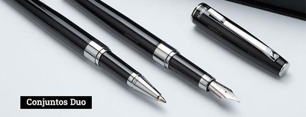 Conjunto de canetas com duas canetas