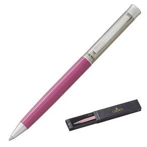 caneta-crown-arezzo-bicolor-esferografica-rosa-e-prata-de-frente