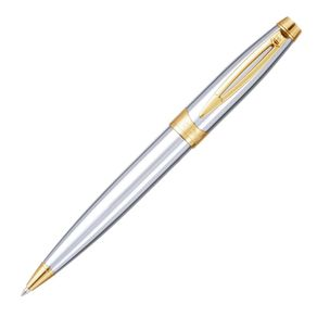 caneta-crown-picasso-gold-esferografica-prata-de-frente-