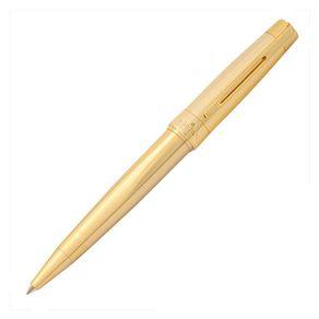 caneta-crown-president-esferografica-dourada-de-frente-