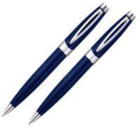 caneta-crown-picasso-silver-esferografica-e-lapiseira-azul-de-frente-