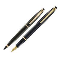 caneta-crown-prestige-conjunto-cor-preta-frente