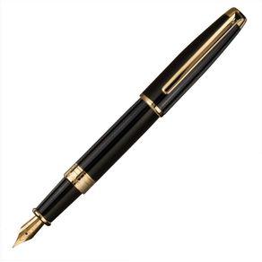 caneta-crown-versalles-tinteiro-preta-de-frente